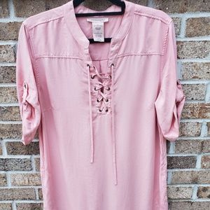 🔥PHILOSOPHY large tunic dress pink 3/4 sleeve